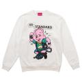 Hi-STANDARD x MISHKA: BEAR GUY CREWNECK (WHITE/EXWDHS01CWHT)