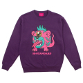 Hi-STANDARD x MISHKA: BEAR MONSTER CREWNECK (PURPLE/EXWDHS03CPPL)