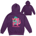 Hi-STANDARD x MISHKA: BEAR MONSTER HOODIE (PURPLE/EXWDHS03HPPL)