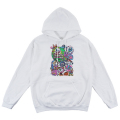 LAMOUR CYCO COLLAGE PULLOVER HOODIE (WHITE/FL171134POWHT)