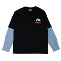 SHIRT LAYERED L/S TEE (BLACK/M21000061BLK)