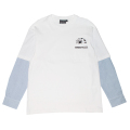 SHIRT LAYERED L/S TEE (WHITE/M21000061WHT)