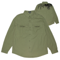 TEX BUTTON DOWN SHIRT (OLIVE/M21000202)