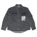 DENIM LAYERED SHIRT (BLACK/M21000209)