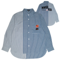 MISALIGNMENT STRIPE SHIRT (BLUE/M21000253)