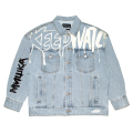 BEARMOP PAINTED DENIM JACKET (L.INDIGO/M21000509)