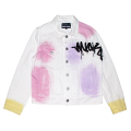 K.W PAINTED WHITE DENIM JACKET (WHITE/M21000513)