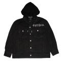 K.W HOODED BLACK DENIM JACKET (BLACK/M61000527)