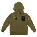 MILITARY PATCHED HOODIE (OLIVE/MAW170427OLV)