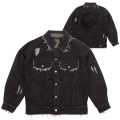 BLACK DENIM JACKET (BLACK/MAW170521)