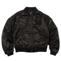 SATIN PATCH MA-1 JACKET (BLACK/MAW170611BLK)