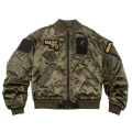 SATIN PATCH MA-1 JACKET (OLIVE/MAW170611OLV)