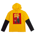 PSYCO SIMON FACE LAYERED HOODIE (YELLOW/MAW180006YLW)