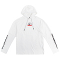 HIDE KEEP WATCH LAYERED L/S HOOD TEE (WHITE/MAW180452WHT)