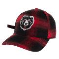 PLAID DEATH ADDERS STRAPBACK CAP (RED/MAW183203)