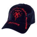 VELOUR DEATH ADDERS STRAPBACK CAP (NAVY/MAW183215NVY)