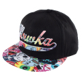CYRILLIC SCRIPT COLLAGE SNAPBACK CAP (BLACK/MAW183234)
