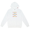 CYRILLIC GRADATION PULLOVER HOODIE (WHITE/MAW190438WHT)