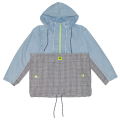 PLAID DENIM ANORAK JACKET (MAW190545)