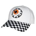CHECKERED MONSTER STRAP BACK CAP (WHITE/MAW193213)