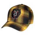 DEATH ADDERS PLAID STRAPBACK CAP (YELLOW/MAW193223)