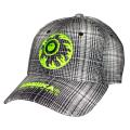 NEON KEEP WATCH PLAID STRAPBACK CAP (WHITE/MAW193253)