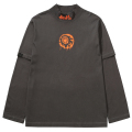 LAYERED HIGH-NECK L/S TEE (CHARCOAL/MAW200003CHL)