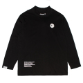 K.W MOCK-NECK L/S TEE (BLACK/MAW200074BLK)