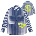 K.W SPRAY PAINT STRIPE SHIRT (BLUE/MAW200214)