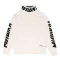 CYRILLIC LOGO MOCK-NECK SWEATER (M.WHITE/MAW200374WHT)
