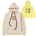 K.W COLOR BLOCKED HOODIE (SAND/MAW200408)