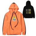 K.W COLOR BLOCKED HOODIE (ORANGE/MAW200415)