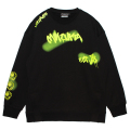 GRAFF SLIT CREWNECK SWEAT (BLACK/MAW200423BLK)