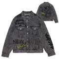 GRAFF BLACK DENIM JACKET (BLACK/MAW200512)
