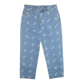 K.W ALLOVER PATTERN DENIM PANTS (L.INDIGO/MAW200901)