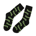 ALLOVER LOGO CREW SOCKS (BLACK/MAW203354BLK)