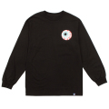 MISHKA BASIC: KEEP WATCH L/S TEE (BLACK/MSKBC1LBLK)