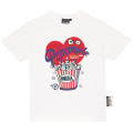 POPCOUPLE KEEP WATCH TEE (WHITE/MSS190043WHT)