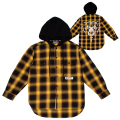 DEATH ADDER HOODED FLANNEL SHIRT (YELLOW/MSS190267)