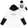 DEATH ADDER FAKE LAYERED HOODIE (WHITE/MSS190479WHT)