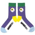 MIGHTY COLOR K.W CREW SOCKS (PURPLE/MSS193301PUR)