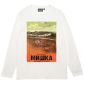 CROP CIRCLE L/S TEE (WHITE/MSS200007WHT)
