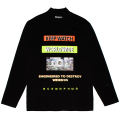 WORLDWIDE MOCK-NECK L/S TEE (BLACK/MSS200055BLK)