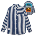 STRIPED D.A BOX PATCH OVERSIZED SHIRT (MSS200201)