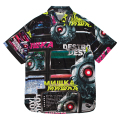 MECHANIC KEEP WATCH PATTERN SHIRT (BLACK/MSS200204)