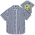 STRIPED WAVE K.W SHIRT (BLUE/MSS200207)