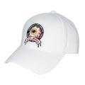 K.W CIRCLE LOGO STRAPBACK CAP (WHITE/MSS203204WHT)