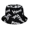 SPRAY PRINT K.W BUCKET HAT (BLACK/MSS203224)