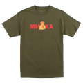 CYRILLIC MONEY BAG TEE (M.GREEN/SM171111GRN)