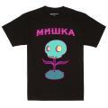 MISHKA x TARA MCPHERSON: FLOWER SKULL TEE (BLACK/TARA2)